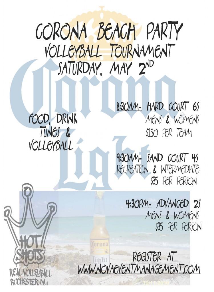 Corona Beach Volleyball Party