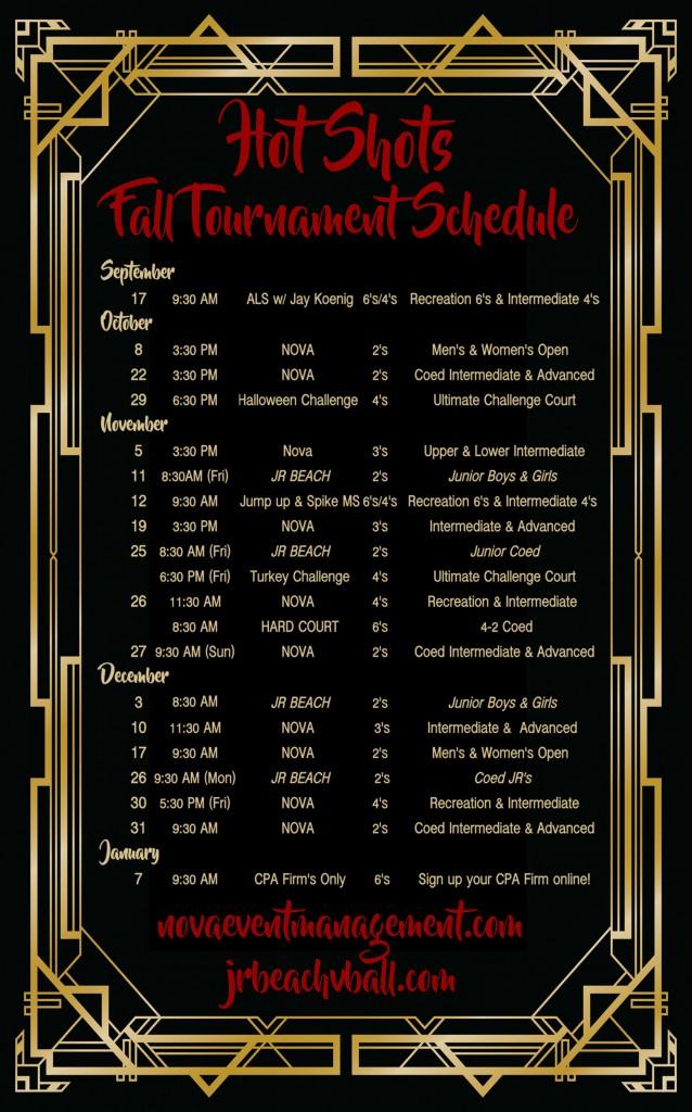 NOVA 2016 Fall Schedule